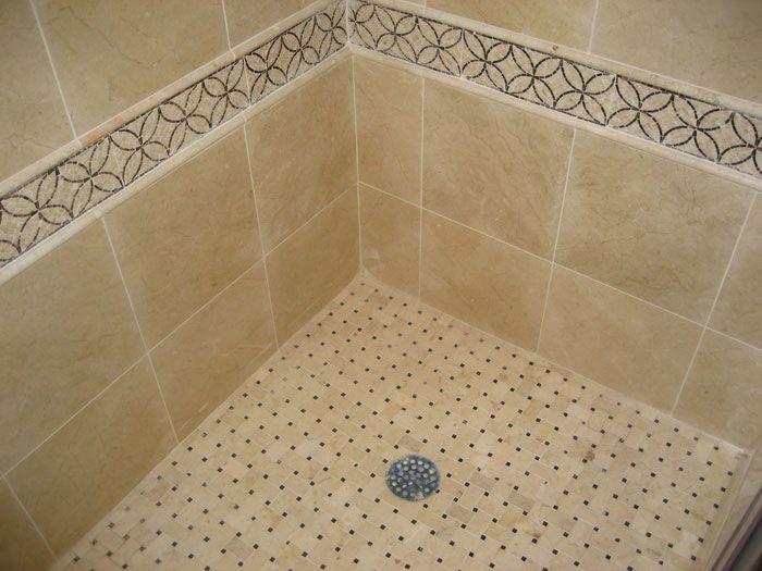 shower floor tile ideas employing a shower base for your bathroom shower space shower base