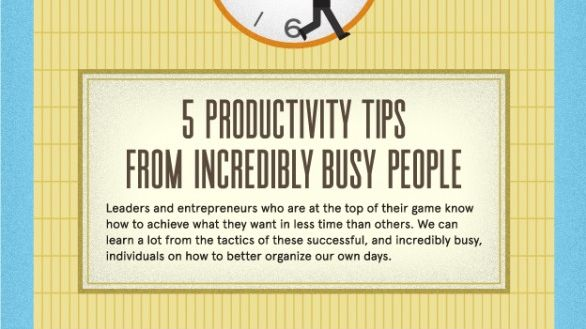 "5 Productivity Tips From Some Of The World's Top Entrepreneurs... Esp love, ""Mind over Mattress""!!!"