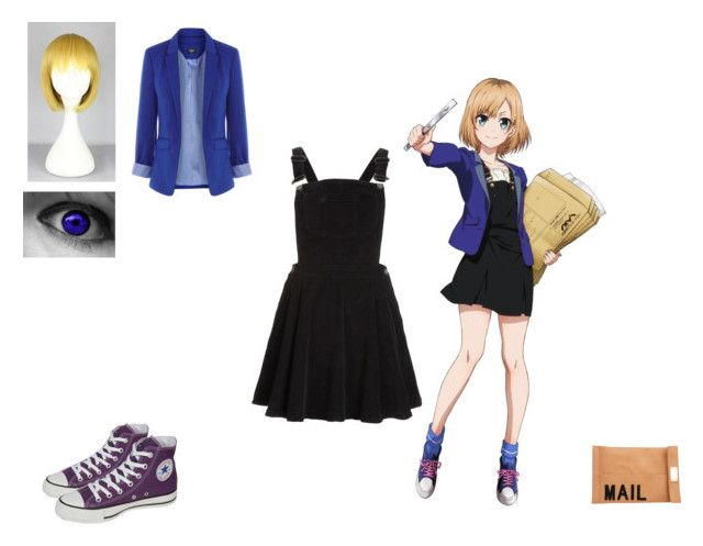 anime girl by mayleneholm on Polyvore featuring Topshop, Oasis, Converse and Akira