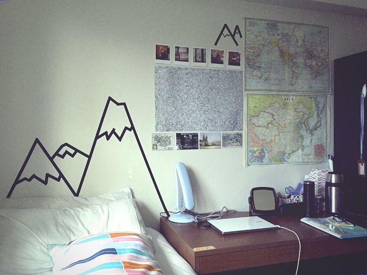 dorm room decorating ideas tumblr. love this maps and mountains bedroom dorm room decorating ideas tumblr z