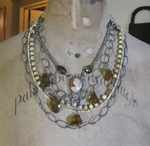 Layers With a Cameo by FrenchSentiments on Etsy, $188.00Layered, 188 00, Fabulous Jewelry, Etsy, 18800, Jewelry Finding, Cameo