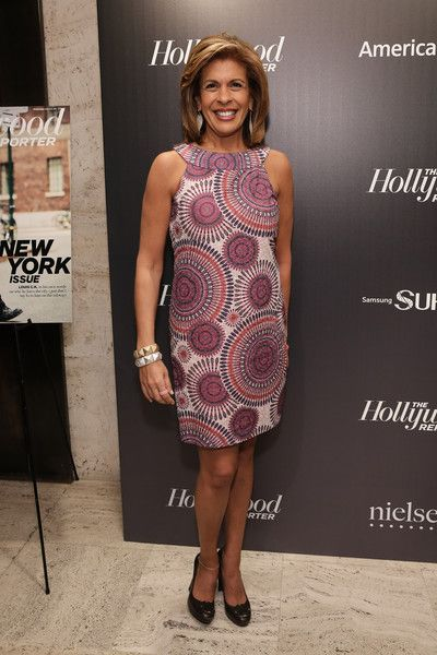 Hoda Kotb Print Dress - Hoda Kotb was retro-chic in her psychedelic-print shift dress at the 35 Most Powerful People in Media event.