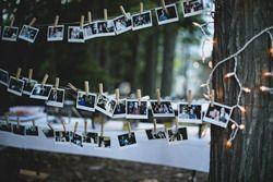 polaroid photo booth clothespins by kootenay wedding photographer electrify photography