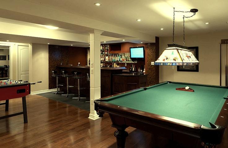 Un sotano convertido en sala de juegos bunker pinterest game rooms playrooms and game - Cool basement ideas ...