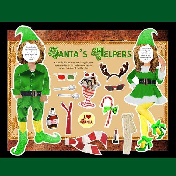 Santa's Helpers Paper Dolls