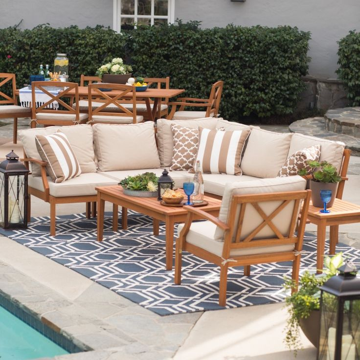 brighton collection sectional set on sale every day at hayneedle shop our collection of outdoor furniture onlinewood