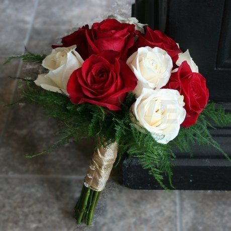 Red And Ivory Wedding Bouquet No Link