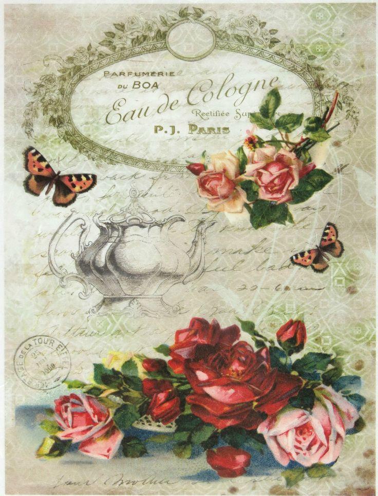 Ricepaper / Decoupage paper, Scrapbooking Sheet Eau de Cologne in | eBay