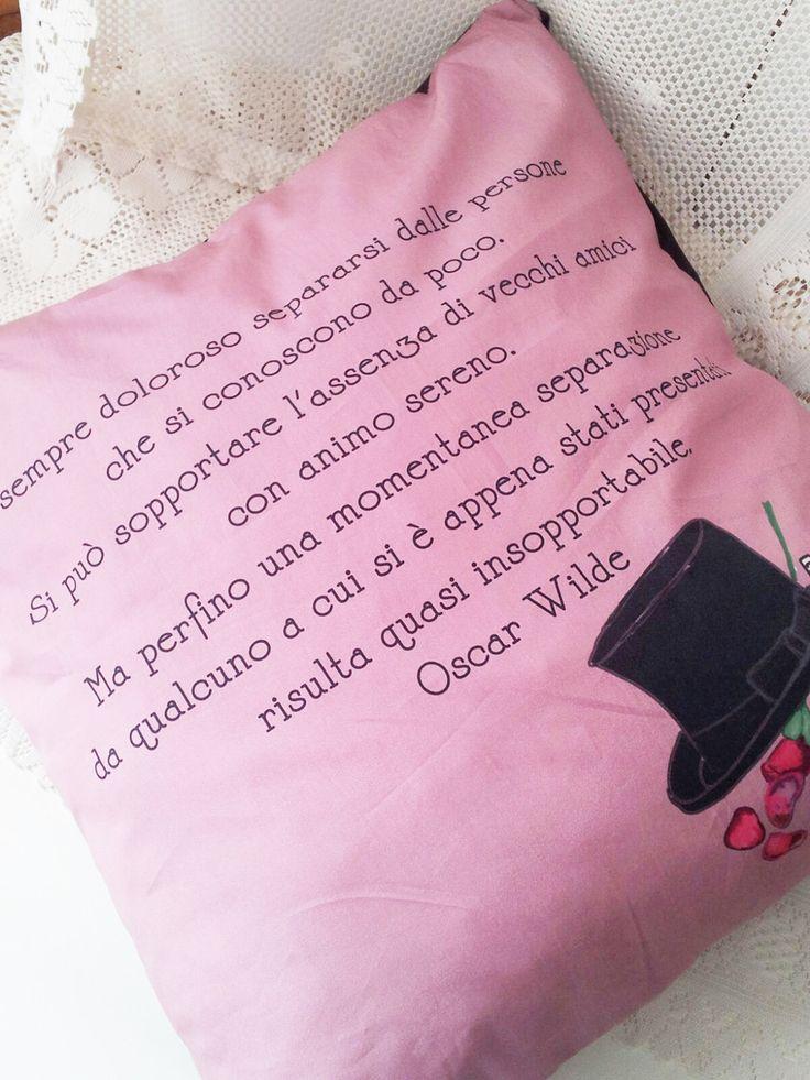 Federa per cuscino Oscar WIlde (Separazioni) : Tessili e tappeti di charlineshop