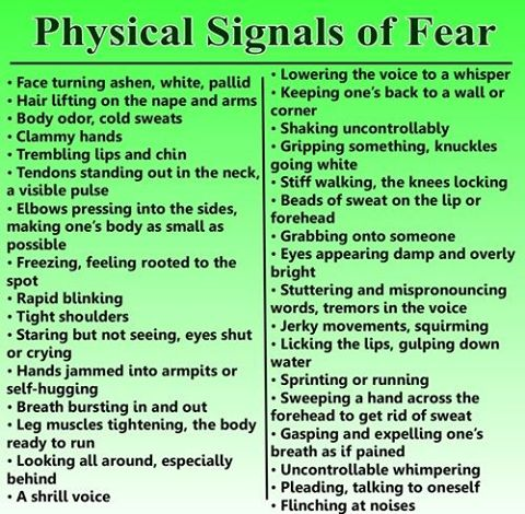 Physical Signals of fear