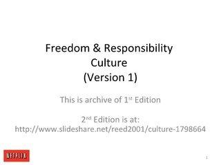 Culture (Original 2009 version) by Reed Hastings, via Slideshare
