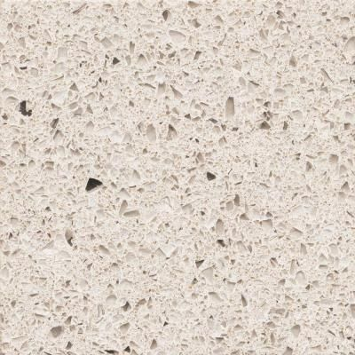 Contemporary Art Sites Quartz Countertop Sample in Stellar Snow Home Depot