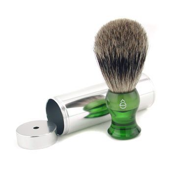 Travel Brush Fine With Canister - Green