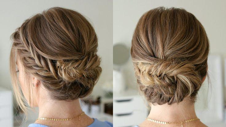 Tucked Fishtail Braid Updo | Missy Sue - YouTube