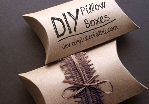 Make Your Own Pillow Boxes - Handmade Packaging How-to (video tutorial + free printable) - Jewelry Tutorial Headquarters