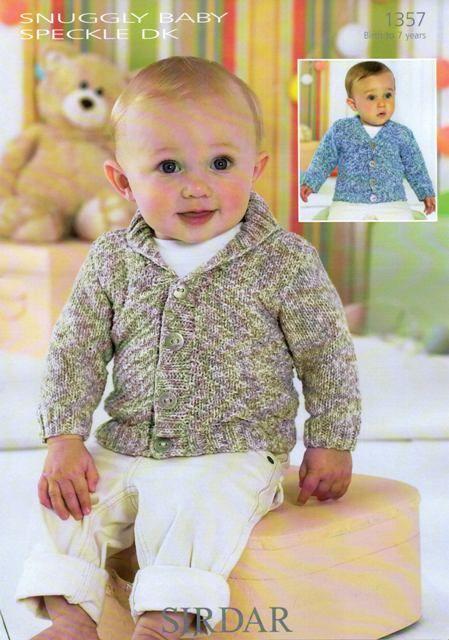 Knitting Pattern 1357 Babies Cardigans In Sirdar Snuggly
