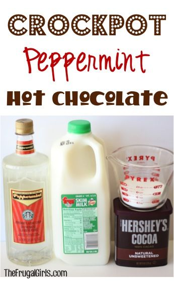 Crockpot Peppermint Hot Chocolate Recipe! ~ from TheFrugalGirls.com ~ this delicious peppermint cocoa will warm you to the toes and is perfect for holiday parties and chilly days! #slowcooker #recipes #thefrugalgirls