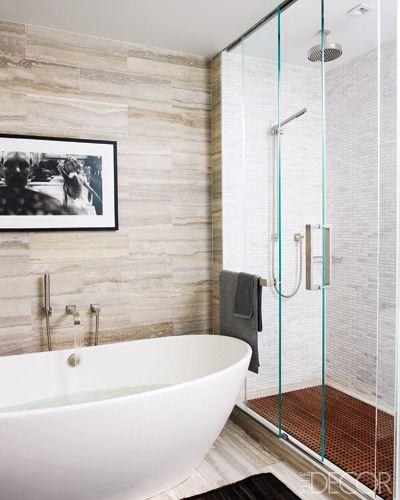 114 best beautiful baths images on pinterest bathroom for Elle bathroom designs