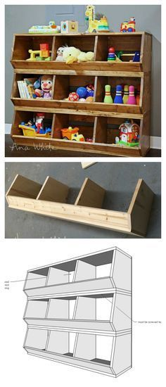 Ana White | Build a 1x12 Wood Bulk Bins | Free and Easy DIY Project and Furniture Plans