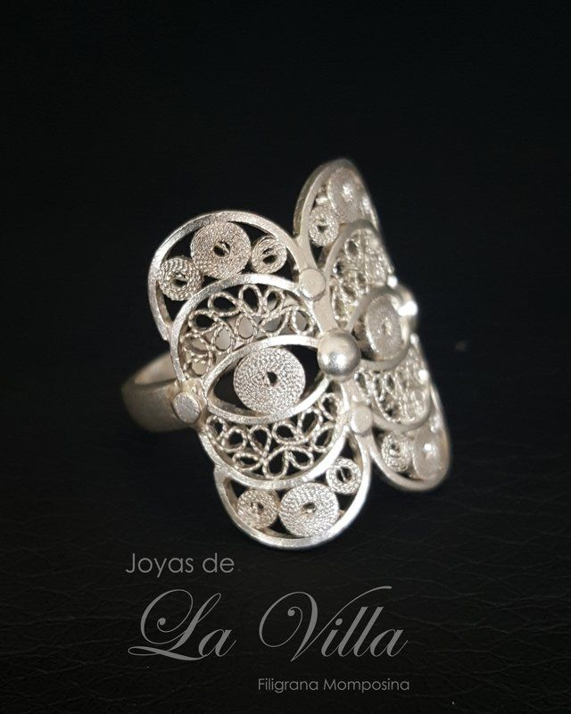 anillo en plata filigrana momposina