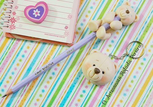 Lápis e chaveiro fofinho!   Rafaela Pereira   Flickr