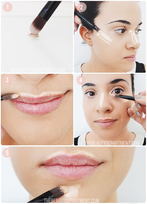 "Highlighting: ""Click through on the picture for the last four steps + final look (and why we apply it BEFORE foundation)!"""