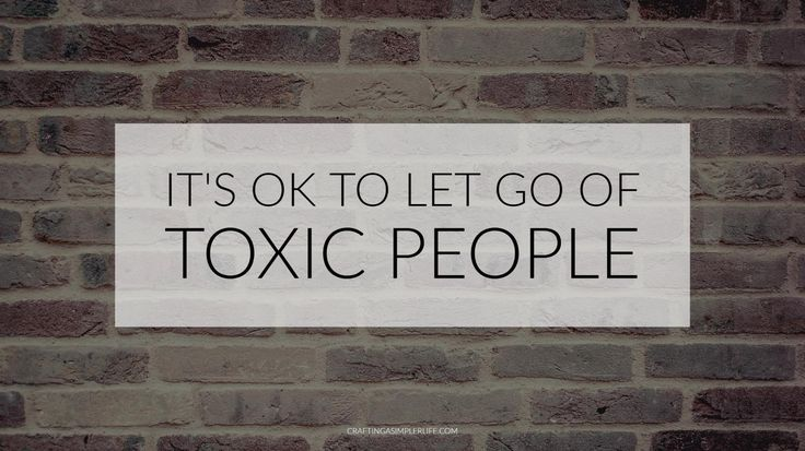 It's ok to let go of toxic people. minimalist advice. identifying and dealing with 4 types of emotional clutter.