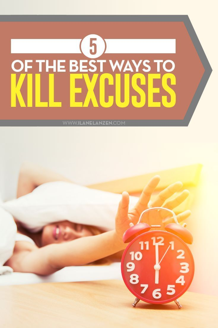 Do you want more out of life? You must kill excuses. They hold you back from getting the things you want and make you think that you are weaker than you actually are | http://www.ilanelanzen.com/personaldevelopment/5-of-the-best-ways-to-kill-excuses/