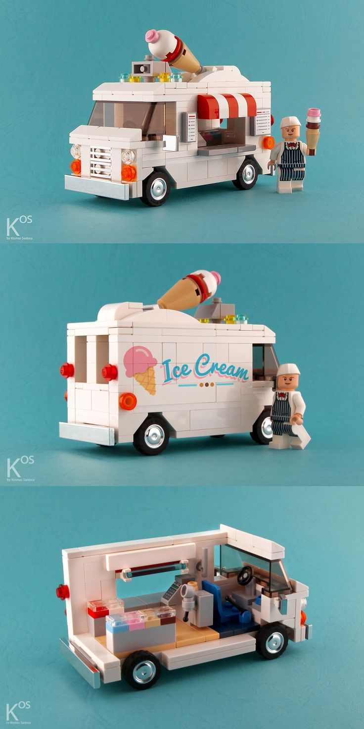 #LEGO Ice Cream Van. LEGO ice cream--two of our favorite things.