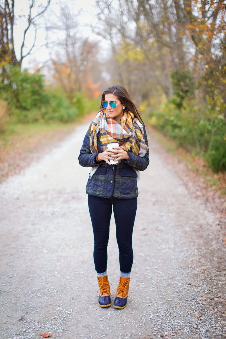 A Southern Drawl: Quilted Plaid + Bean Boots: