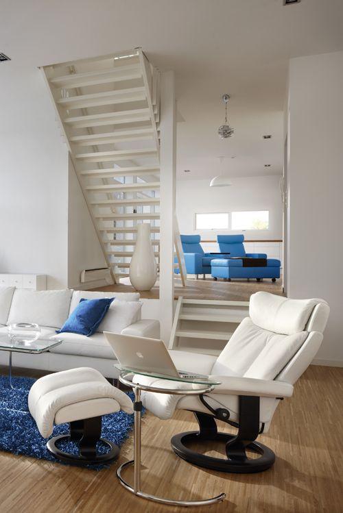 Komfort Im Skandinavischen Design Mit Dem Stressless Sessel Magic In Weißem  Leder. Gleich Anschauen Bei