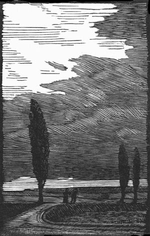 Gwen Raverat, The Storm, 1912. Block cut.