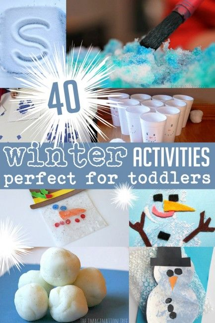 40 winter activities that are perfect for toddlers to actually do (and cute crafts for them to make too!)