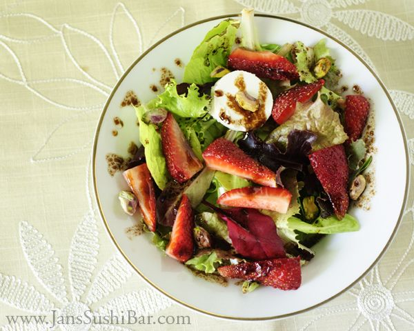 Strawberry Dark Chocolate Balsamic Salad
