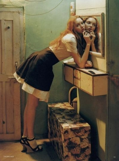 Tim Walker fashion photography with supermodel Lily Cole. Vogue editorial