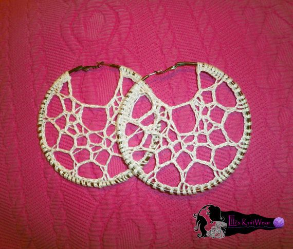 Crochet Web Earrings by EllisKnitwearShop on Etsy