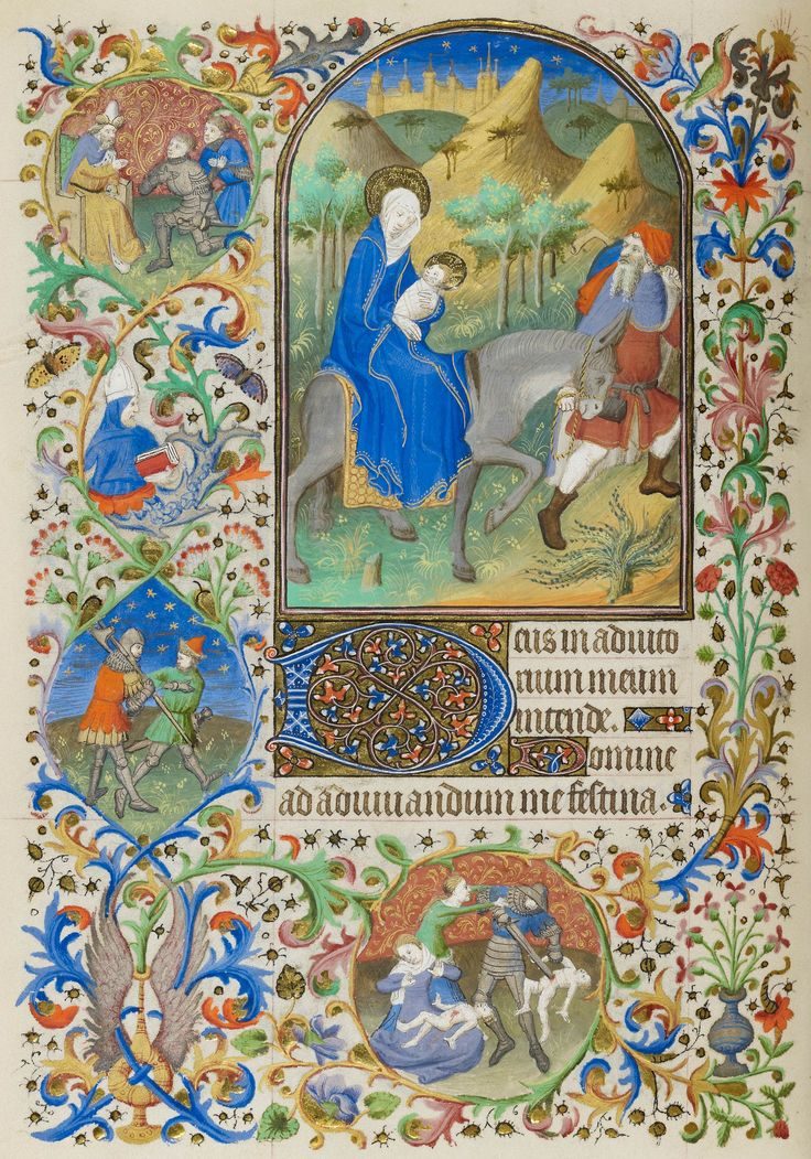 Christ: Flight into Egypt | Book of Hours | France, Paris | ca. 1425-1430 | The Morgan Library & Museum
