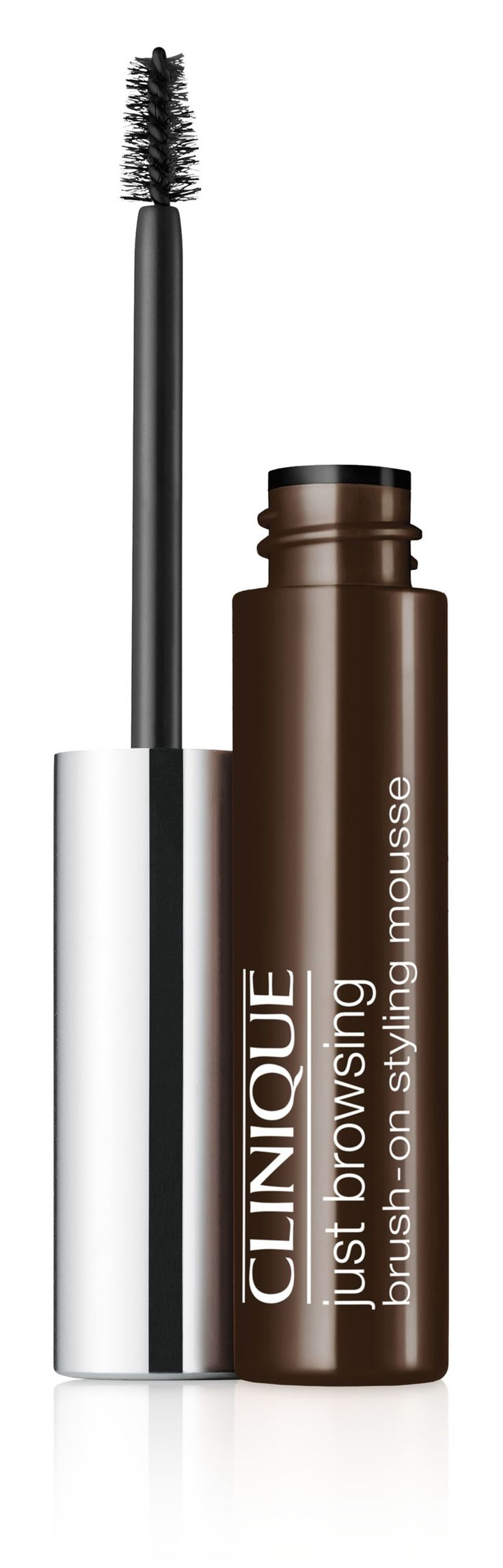 Fall Makeup Trend: Bold Brows. Get the look with Clinique Just Browsing Brush-On Styling Mousse in Black/Brown. 24-hour long-wearing brow mousse tints, tames, fills-in even the sparsest brows.