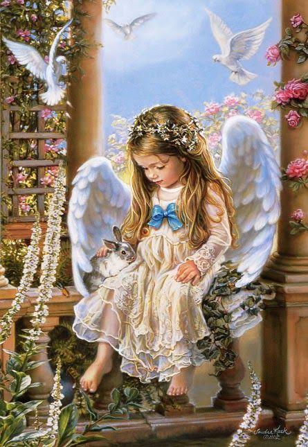 VINTAGE, EL GLAMOUR DE ANTAÑO: Arte con Adorables Niños Ángel/Adorable Child with Angel Art