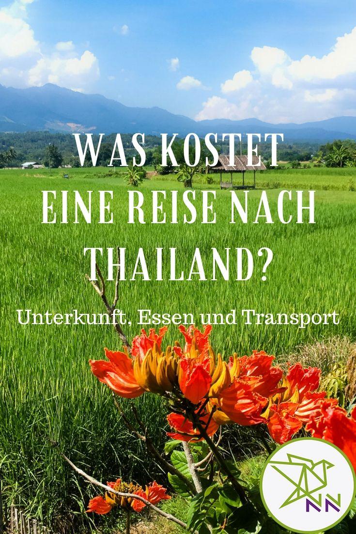 Große und ausführliche Kostenaufstellung für eine Reise in Thailand.