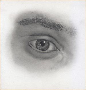 Male Eye Pencil Drawing Tutorial Step 11