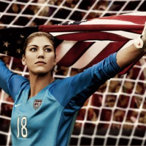My ultimate sports fantasy is to basically be Hope Solo in net at the Olympics for team USA.