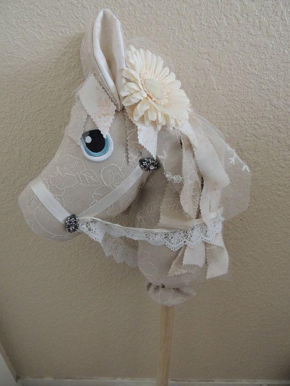 Hannah the Stick Horse by HopelesslyHookedSM on Etsy, $75.00