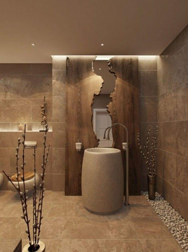 Badezimmer In Braun Sind Klassisch Salledebain Idee Salle De