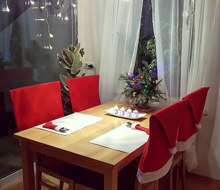 86 отметок «Нравится», 10 комментариев — Ana Glücklich (@ooo.at) в Instagram: «Рождественский декор обеденного стола 🍾🎄🎁 #декор #идеи #идея #идеядлядекора #гостиная #Wohnung…»
