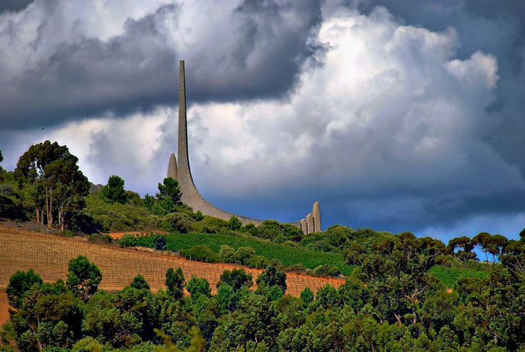 The Afrikaans language monument near Paarl, South Africa. Half Hour drive from Franschhoek and La Clé des Montagnes- 4 luxurious villas on a working wine farm