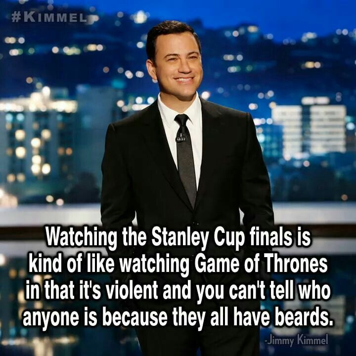 jimmey kimmel on the stanley cup finals being like Game of Thrones