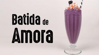 Aprenda a fazer essa maravilhosa receita de Batida de Amora. Receita completa no site.
