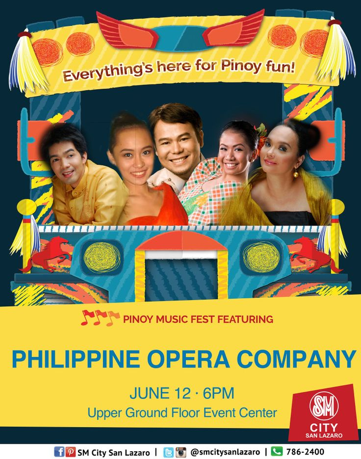 Everything's here for Pinoy Fun!   Celebrate Philippine Independence only at SM CITY SAN LAZARO!  Pinoy Music Fest featuring PHLIPPINE OPERA COMPANY live on June 12, 6pm at the Upper Ground Floor Event Center! See you all!   #pinoyfunph #pinoyfun #pinoyfunatSMCITYSANLAZARO