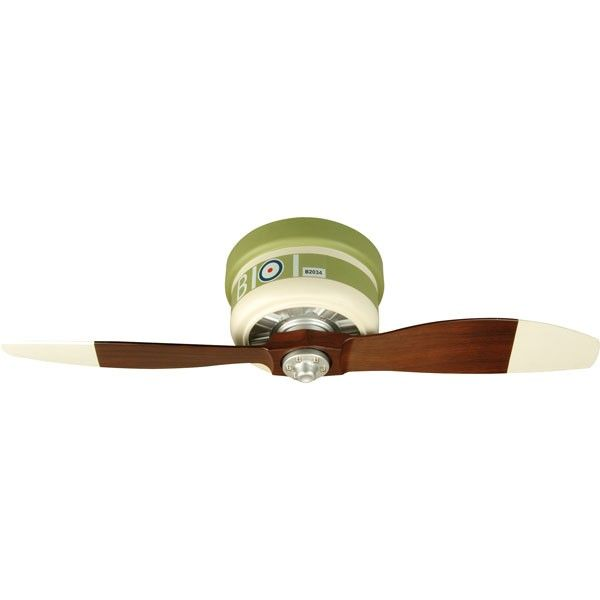 A colorful tritube to the glory days of the original WarPlane which graced our skies as a symbol of freedom in a time of war. Each of the WarPlanes ceiling fans is a fun and unique way of imagining a bygone era.